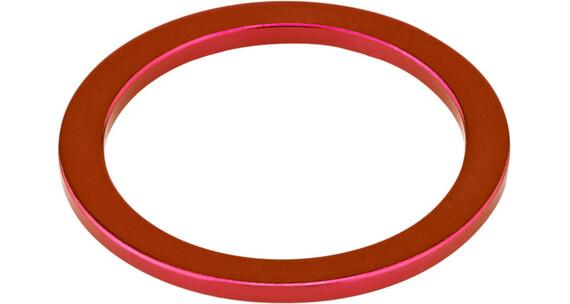 """KCNC Headset Spacer 1 1/8"""" 2mm rød"""